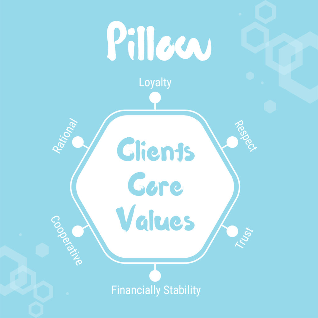 Pillow_Clients Core Values