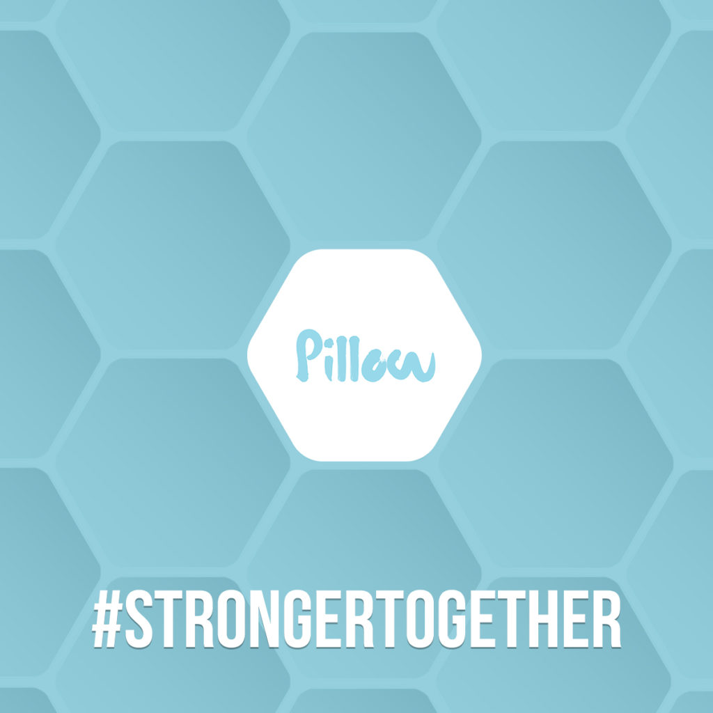 Pillow Stronger together